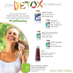 Set Detox Shaklee Bantu Detox Yang Berkesan Dan Sihat